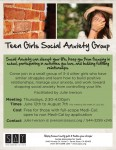 Teen Girl's Social Anxiety Group